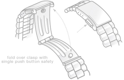 watch-clasp-types-foldover-with-single-push-button-safety