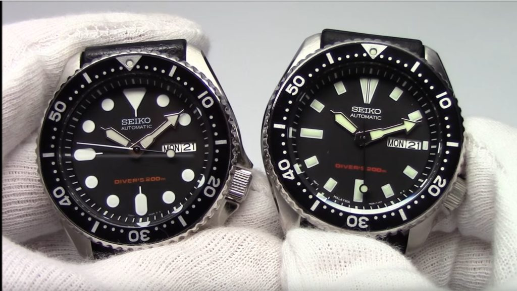 Seiko SKX007 vs SKX173 Comparison.